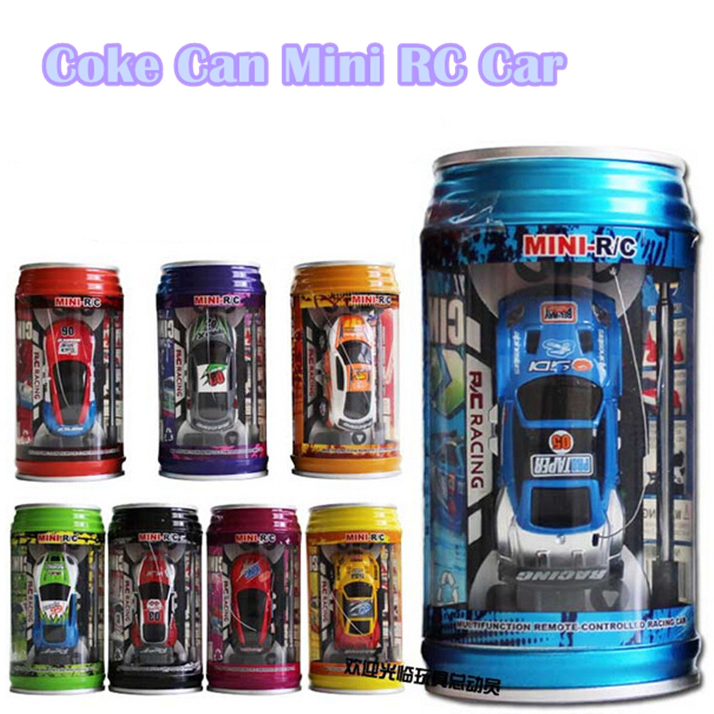 Baby Toys 1:63 Mini Coke Can Mini RC Car Electric Toys Crro Speed Truck Radio <strong>Remote</strong> Control Micro Racing Vehicle Toy Gift For C