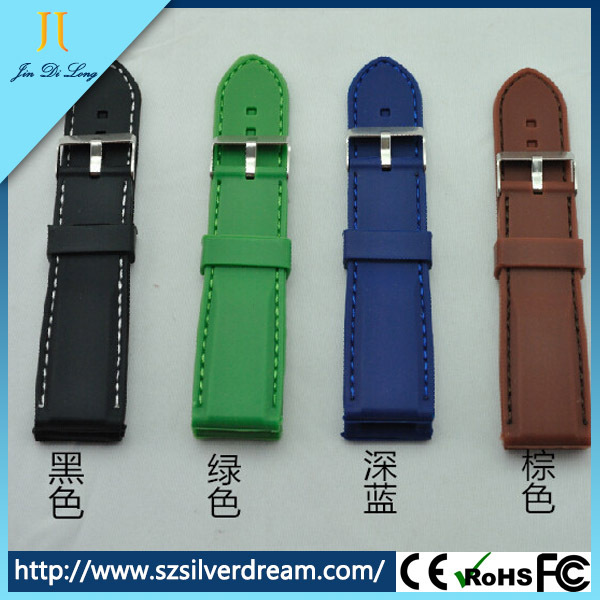 2015 Popular elegant gift watch OEM factory promotion silicon strap watch
