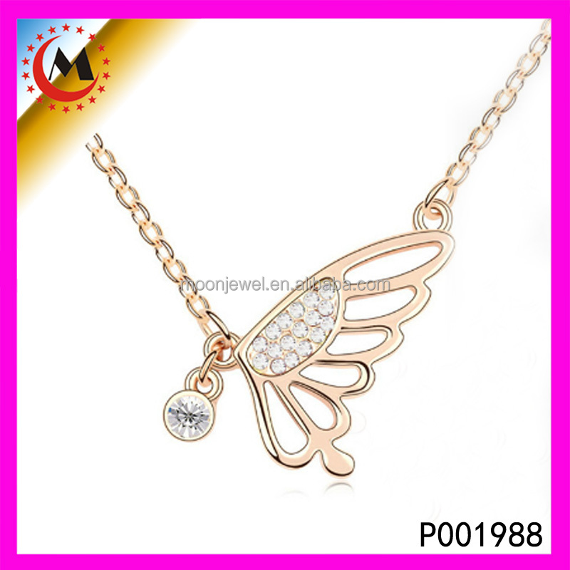 22k Gold Jewelry In Pakistan Gold Plated Charm Pendant Wholesale Feather Charms