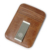 Men money clips vintage genuine leather front pocket clamp for money holder removable money clip wallet with card ID Slots