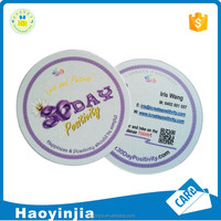 Circle Shaped Glossy Business Card