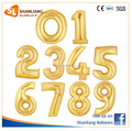 16 Inch 35cm Gold Number Foil balloon, 0-9, for Party Decoration