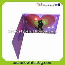 Birthday greeting card with LED light