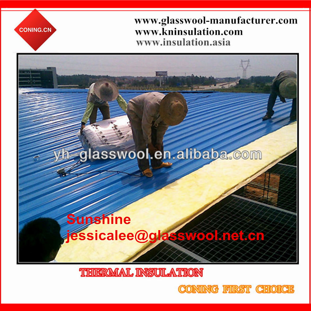 Glass wool/fiber glass wool steel structure building insulation materials
