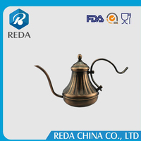 Wholesale alibaba stainless steel teapot dallah brass copper arabic coffee pot