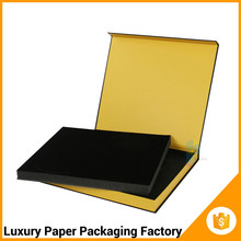 black folding matte gift box belly band packaging