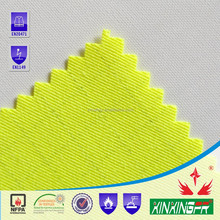 Cotton nylon reactive dyeing high-vis FR twill fabric For warning garment