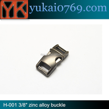 Yukai buckles wholesale quick side release metal buckles for dog collar and paracord bracelet