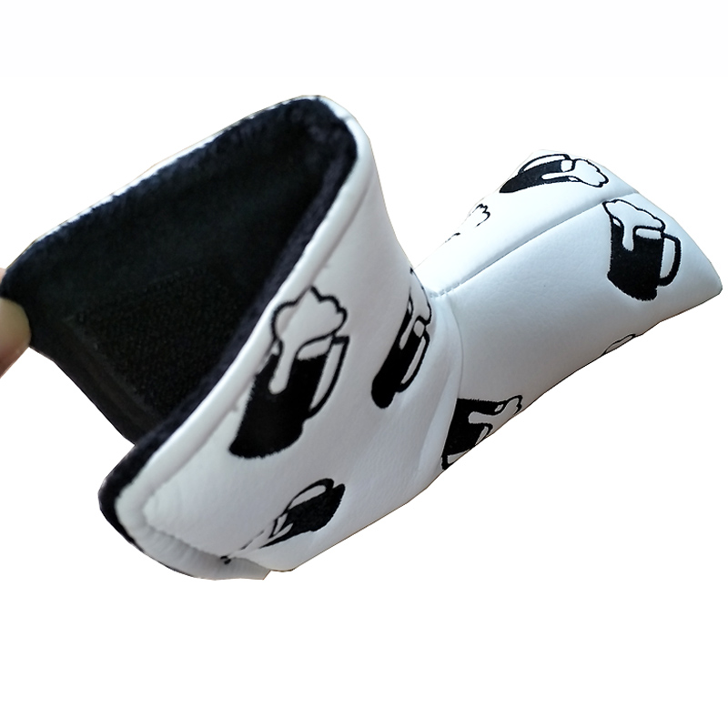 Custom PU Leather Magnetic Golf Putter Head Cover