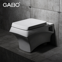 New Fashion White Color wall hung toilet dimensions