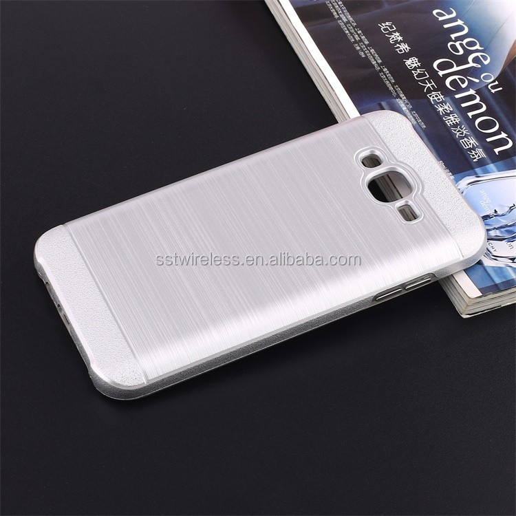 Korea best selling dual layer brused metal smartphone case for J7/J700
