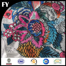 Custom high quality digital printed camouflage silk fabric