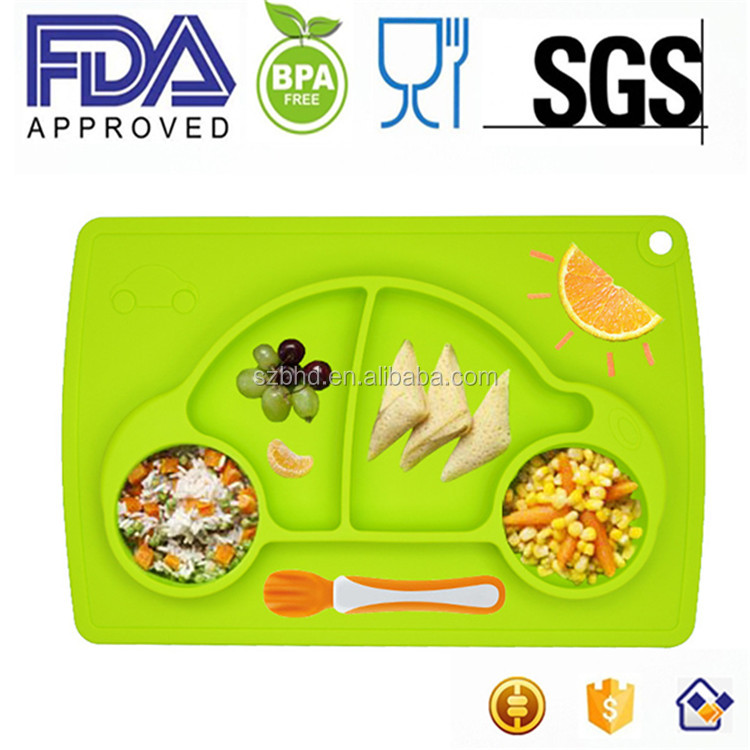 Custom Kitchen Accessory Silicone Child Table Mat Baby Placemat For Kids
