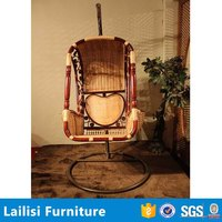 Patio Rattan Hanging Swing Chair Garden Furniture