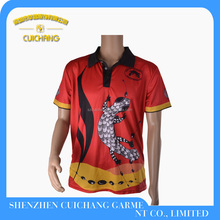 High quality sublimated printing polo shirt