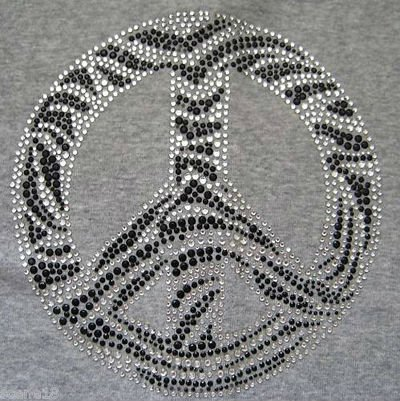 zebra cross bling rhinestone hot fix transfer iron on design
