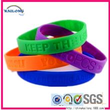 China Wholesale Rainbow Color One Direction 1D Silicone Bracelets Bracelet