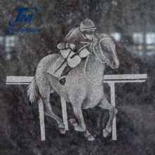 Horse photo chinese stone cemetery headstone monument