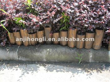 Colored High-low Wood Edging for Garden Decoration