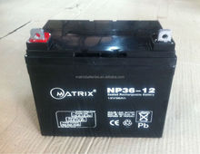 12v 36ah electric golf cart battery with ce rohs iso