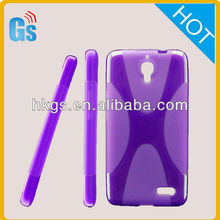 Case Cover For Alcatel One Touch Idol OT6030D /OT-6030D /OT 6030D For TCL S820 Tpu Skin X wave Cross Shells