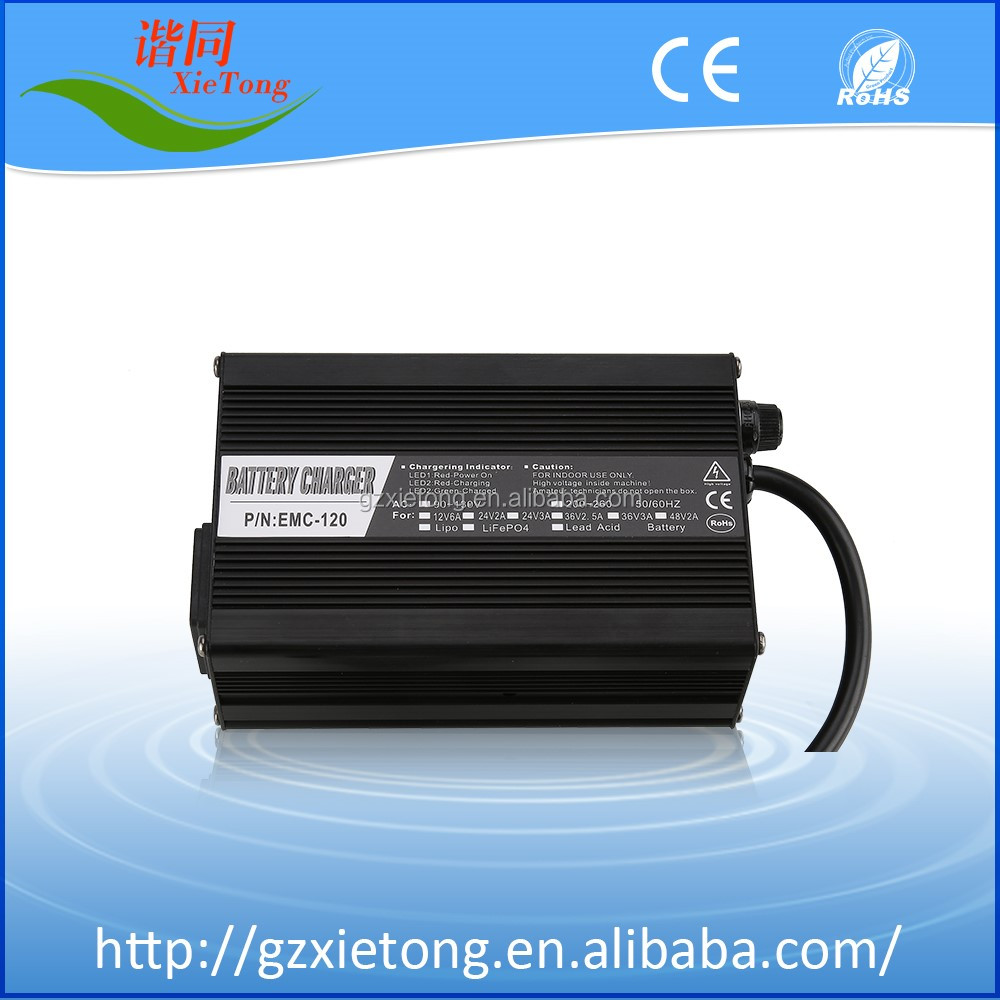 Hot Sales! EMC120 48V 2A Lead Acid / LiFePO4 /Li-ion Battery Charger