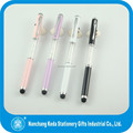 2014 hot selling promotional mini touch stylus metal crystal pen