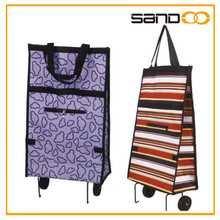 Hot sell newest folding shopping bag with wheels, foldable trolley shopping bags wholesales