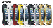 Dirtproof Shockproof Waterproof Gorilla Glass Love Mei Case Cover for iPhone 5 5S