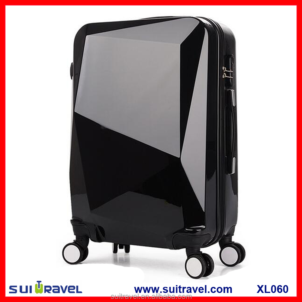 China Factory abs pc hard shell carry on travel luggage case