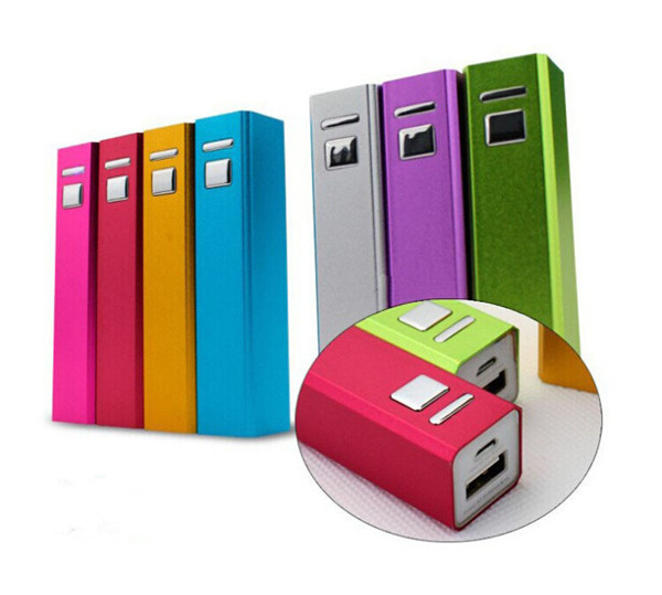colorful aluminum powerbank 2600 mah