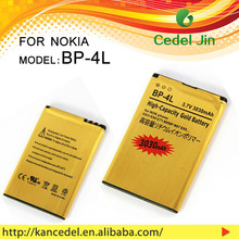 Mobile Phone Battery For nokia BP-4L E63/E71/E71X/E72/E73/E90/E95/N97/E6-00 3030mAh gold battery