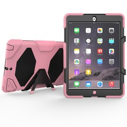 Armor Case For iPad 5 For Apple iPad Air Tablet Hybrid Kickstand Shockproof Case