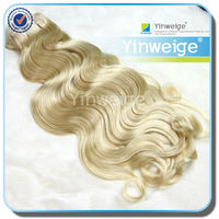 fashion top 10 human two tone blonde brazilian hair weft