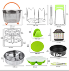 Instant Pots Accessories Set, Pressure Cooker Accessories Fit Instant Pots 6,8 Qt 14pcs each set