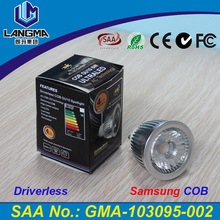Langma 6W Non Driver LED Dimmable Spotlight Samsung AC COB Driverless GU10 LED SpotLight New Tech Home Lamp