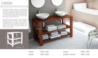 Domo Customized Oem Luxury Ceramic Bathroom Cabinet Wash Hand Ceramic Vanity Art Basin(Cedar)