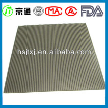 Green Fine Ribbed Rubber Sheet In Roll