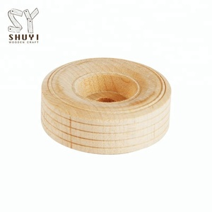 Kids Toy Parts Round Small Wooden Wheels For Toys