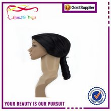 Black Short Braided Pigtails Party Synthetic Wigs for Ladies Fancy Dress