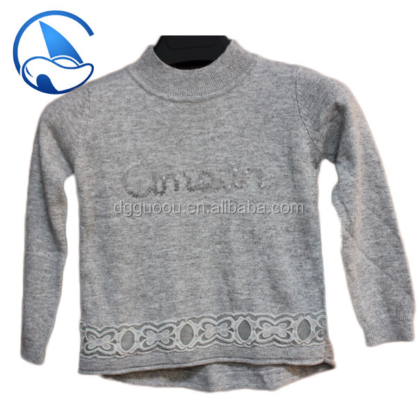 children knitting design sweater with sequins GOAWJC13