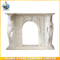High Quality antique marble fireplace indoor decoration for sale