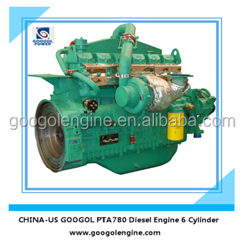 Googol Small Diesel Engine 4 Stroke 6 Cylinders 273kW for Sale
