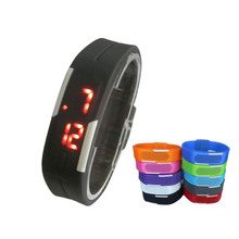 promotion gift watch / no buckle watch unusual digital watches