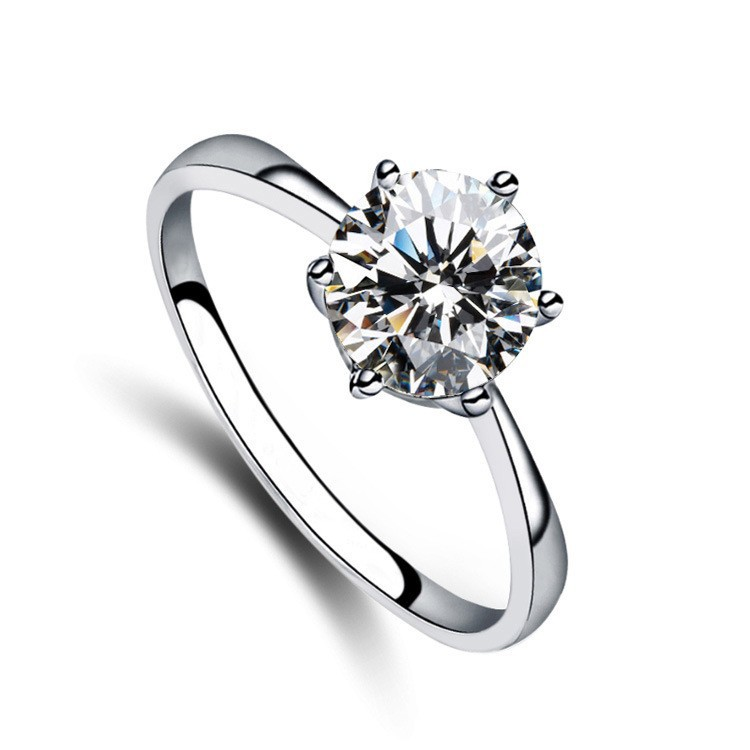 Tryme 8mm Crystal 6 Angle Ring Zircon Girls Rings