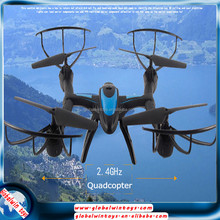 Fashionable toy 2.4g 4ch helicopter drone with 6-axis gyro headless mode auto return flying racing quadcopter with camera
