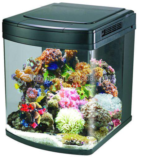 128l nano cubo acuario marino para la decoraci n casera con luz led hs 62a acuarios y accesorios - Decoracion acuario marino ...