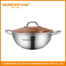 Wholesale Soup Pot Stainless Steel Crab Pot with Stainless Steel Handle