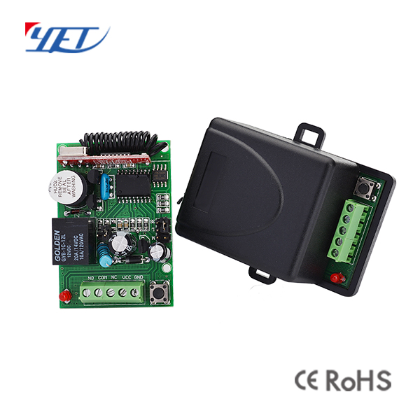 1 channel 12v wireless reciever learning code YET401PC-HCS301for gate motor /shutter/barrier