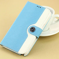 PU leather wallet card holder flip case for samsung galaxy note 2 N7100